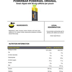 PowerBar PowerGel Original Box Green Apple mit Koffein 24 x 41g